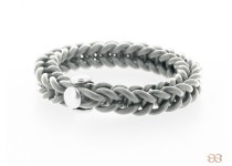 cheeky loom bracelet gray